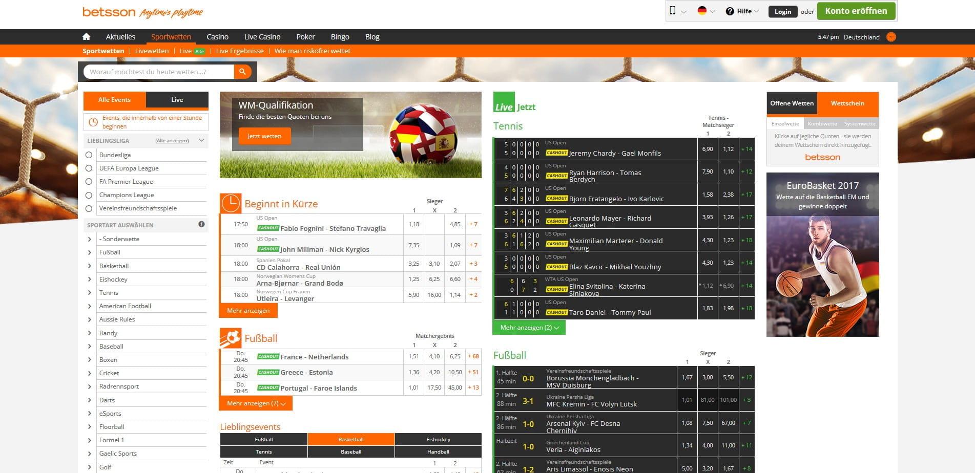 Betsson Casino Sportwetten - 45149