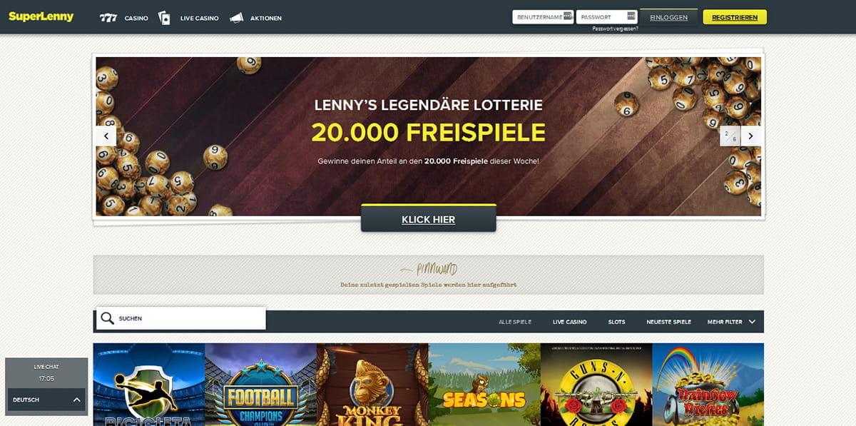 Spielautomaten Großgewinne Superlenny - 54505