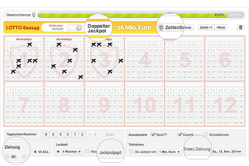 Lotto Statistik - 47355