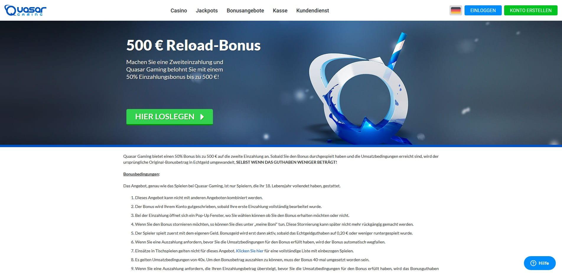 500 Casino Bonus - 21407